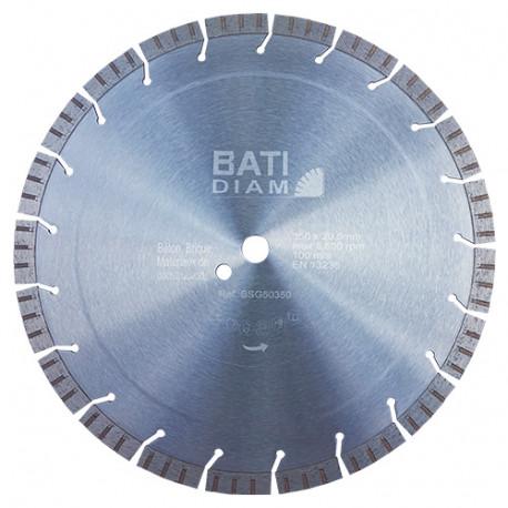 Disque TURBO D. 350 x 3,6 x 15 x Al. 25,4 mm - Spécial maçonnerie - BATIDIAM