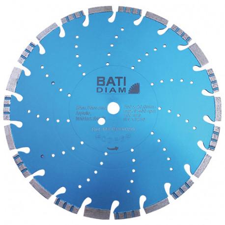 Disque diamant Combi Turbo Bloc Premium D. 350 x 3,2 x 10 x Al. 25,4 mm - Béton, maçonnerie - BATIDIAM