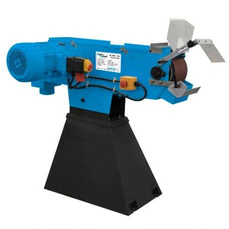 Ponceuse à bande, ébavureuse métal 75 x 2000 mm 2 vitesses 400 V 3000 W - DW-PB075T - Diamwood