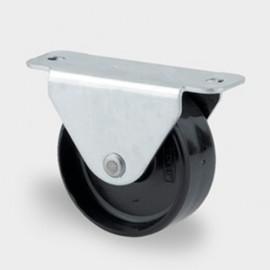 Roulette fixe D. 14 mm à platine 30 x 17 mm charge max. 50 kg - 0002112000 - Tente