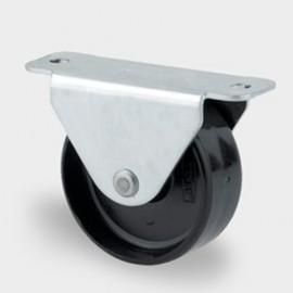 Roulette fixe D. 30 mm à platine 47 x 20 mm charge max. 60 kg - 0002113400 - Tente