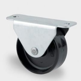 Roulette fixe D. 45 mm à platine 67 x 24 mm charge max. 80 kg - 0002114100 - Tente