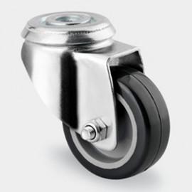 Roulette pivotante D. 50 mm à trou central 11 mm charge max. 80 kg - 0003109800 - Tente