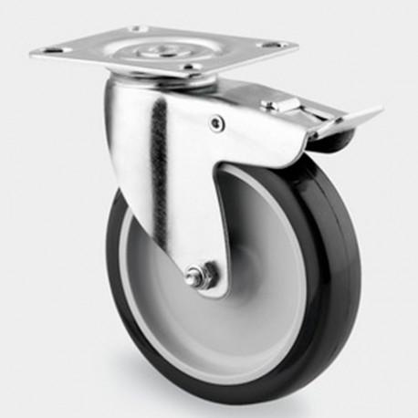 roulette pivotante avec frein d 75 mm platine 60 x 60 mm charge max 120 kg 0003111100 tente. Black Bedroom Furniture Sets. Home Design Ideas