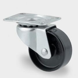 Roulette pivotante D. 25 mm à platine 35 x 30 mm charge max. 20 kg - 0003208100 - Tente