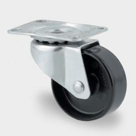 Roulette pivotante D. 50 mm à platine 59 x 47 mm charge max. 80 kg - 0003226000 - Tente