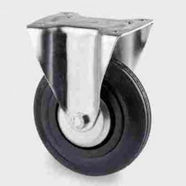 Roulette fixe D. 125 mm à platine 103 x 85 mm charge max. 200 kg - 0090155400 - Tente