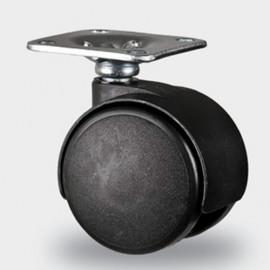 Roulette pivotante D. 40 mm à platine 38 x 38 mm charge max. 60 kg - 0095115500 - Tente