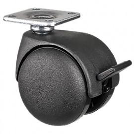 Roulette pivotante avec frein D. 50 mm à platine 38 x 38 mm charge max. 80 kg - 0095862100 - Tente
