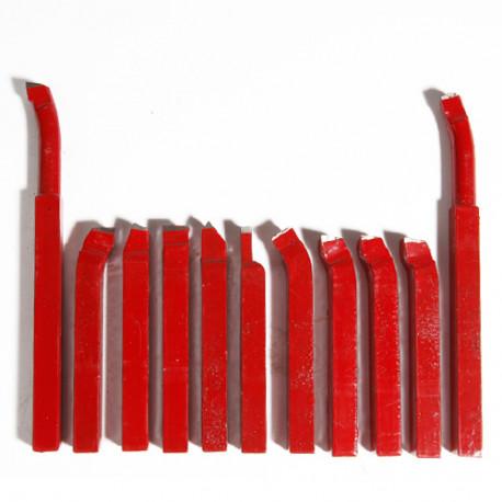 Jeu de 11 outils de coupe carré 10 x 10 mm - 21398116 - Sidamo