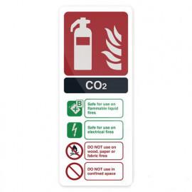 Pancarte de sécurité autocollante 202 x 82 mm Extincteur au CO2 EN3 - 319626 - Fixman