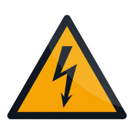 Pancarte de sécurité autocollante 100 x 100 mm Attention électricité - 346548 - Fixman