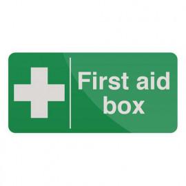 Pancarte de sécurité autocollante 200 x 100 mm Trousse de premiers secours - 349616 - Fixman