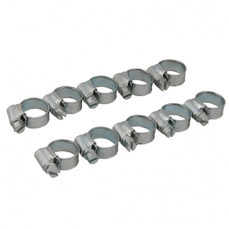 Lot de 10 colliers de serrage métallique 12 - 20 mm (OO) - 449926 - Fixman