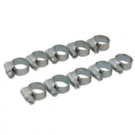 Lot de 10 colliers de serrage métallique 25 - 35 mm (1) - 530408 - Fixman