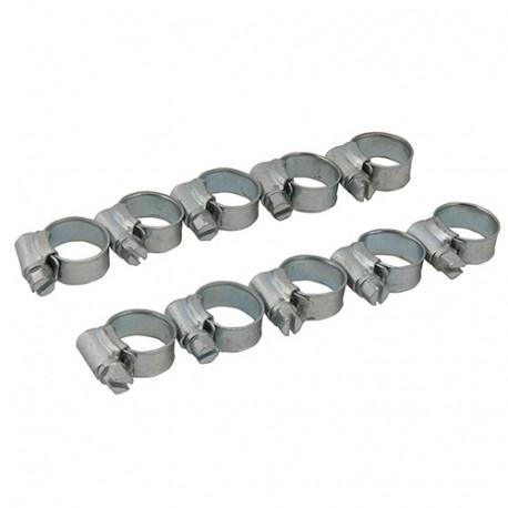 Lot de 10 colliers de serrage métallique 22 - 30 mm (1A) - 578018 - Fixman
