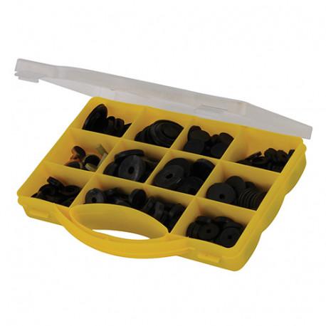Coffret de rondelles/joints assorties pour robinet 140 pcs - 795475 - Fixman