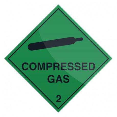 Pancarte de sécurité autocollante 100 x 100 mm Gaz comprimé - 805581 - Fixman