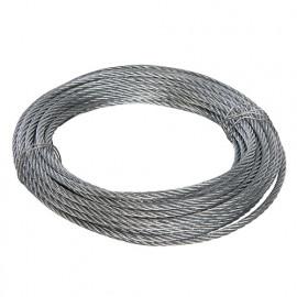 Câble métallique galvanisé 4 mm x 10 M - 876416 - Fixman