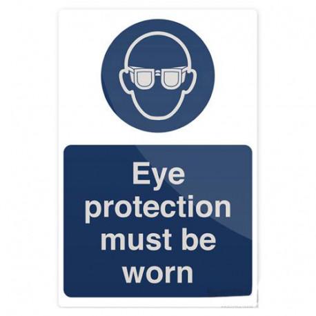 Pancarte de sécurité rigide 200 x 300 mm Port de lunettes de sécurité obligatoire - 893068 - Fixman
