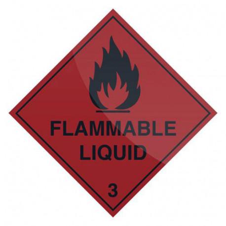 Pancarte de sécurité autocollante 100 x 100 mm Liquide inflammable - 921598 - Fixman