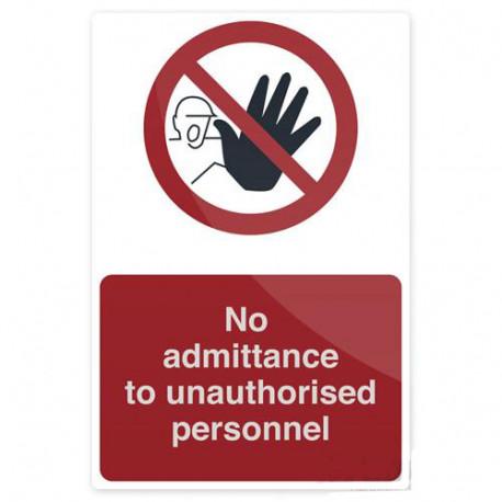 Pancarte de sécurité rigide 200 x 300 mm Accès interdit à une personne non autorisée - 968708 - Fixman