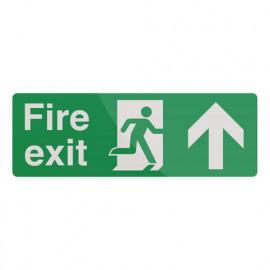 Pancarte de sécurité photoluminescente 400 x 150 mm Issue de secours avec flèche directionnelle - 385025 - Fixman