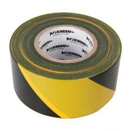 Ruban de balisage 70 mm x 500 M - Jaune et Noir - 535350 - Fixman