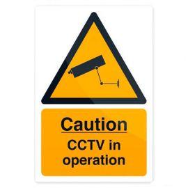 Pancarte de sécurité autocollante 200 x 300 mm Vidéo-surveillance en service - 494121 - Fixman