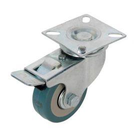 Roulette pivotante à frein en caoutchouc D. 50 mm - 50 kg - 413608 - Fixman