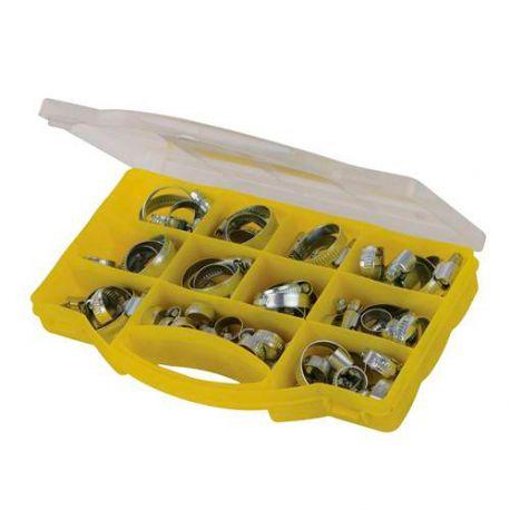 Coffret de colliers métalliques pour tuyaux 60 pcs - 138252 - Fixman