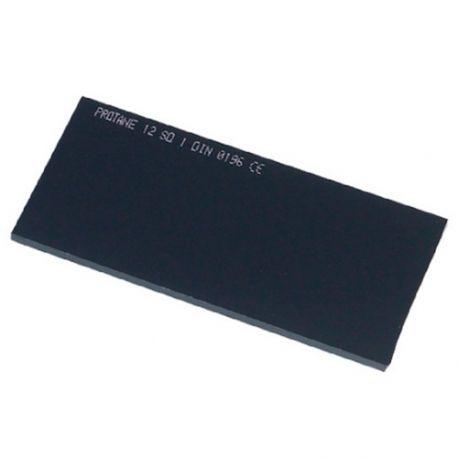Verre fumé 105 x 50 mm teinte 12 pour masque de soudage - 20398062 - Sidamo