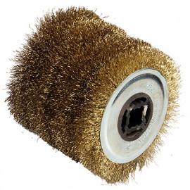 Brosse fil métal D. 120 x Al. 19,5 x ép. 100 mm pour REX120 - 110874 - Fartools
