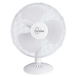 Ventilateur MIAMI D. 40 cm de table 3 vitesses blanc 50 W 230 V - 112070 - Fartools