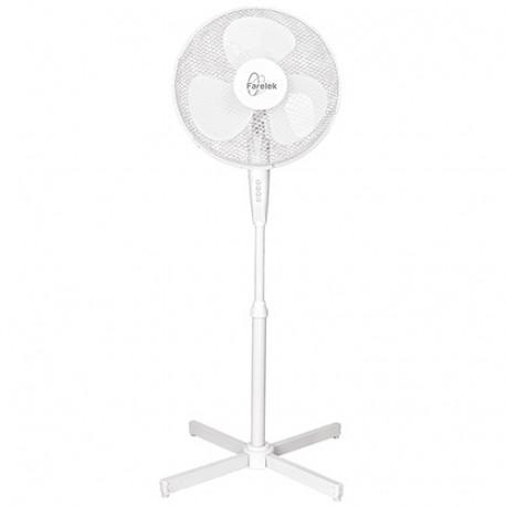 Ventilateur TENESSEE D. 40 cm sur pied 3 vitesses blanc 50 W 230 V - 112100 - Fartools