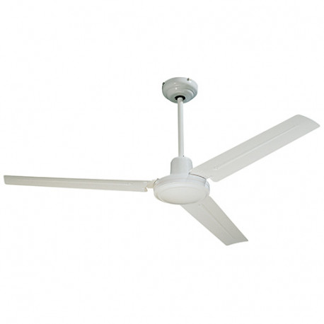 Ventilateur de plafond SEYCHELLES D. 122 cm 3 pales métal laqué blanc 65 W 230 V - 112416 - Fartools