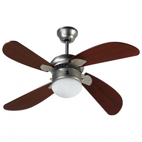 Ventilateur de plafond HAWAI 107cm 4 pales 50 W 230 V - 112424 - Fartools