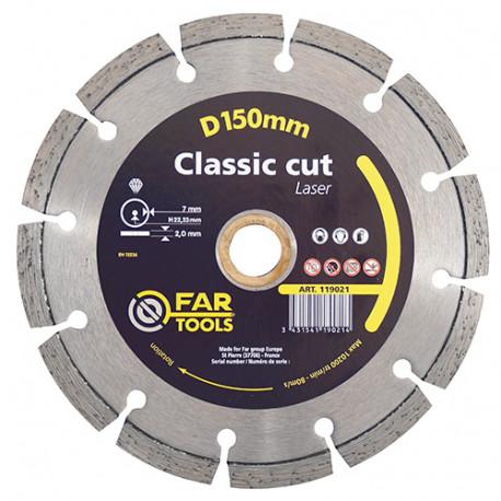 Disque diamant Classic cut laser D. 150 x AL. 22,23 x Ht. 7 mm - 119021 - Fartools