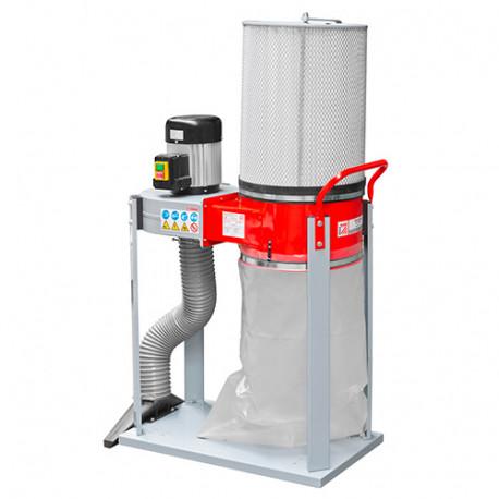 Aspirateur à copeaux de bois 1 sac 60 litres 750 W 400 V - ABS1500FF-400V - Holzmann