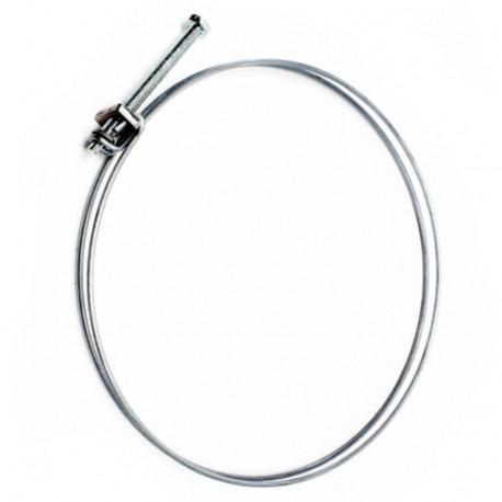 Collier de serrage double fil acier D. 195 à 205 mm pour tuyau flexible d'aspiration - CDF195-205 - Aev-Flex