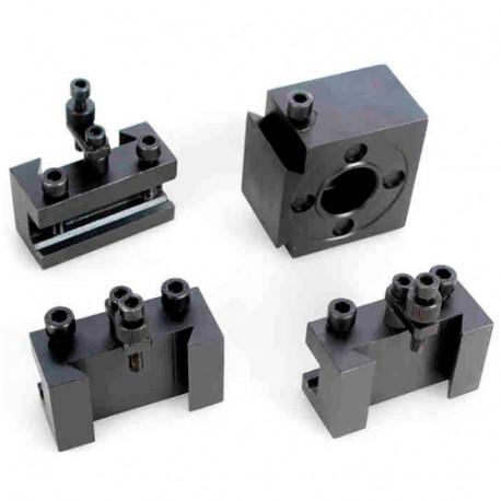 Tourelle à changement rapide + 3 porte outils pour tours métaux TP 750 VISU - 21398129 - Sidamo