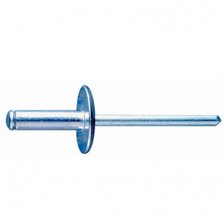 500 rivets aluminium tête large D. 4 x 10 mm - RECA4010 - Index