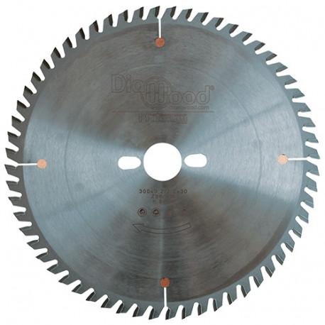 Lame de scie circulaire HM micrograin finition D. 300 x Al. 30 x ép. 3,2 mm x Z96 TP - Diamwood Platinum