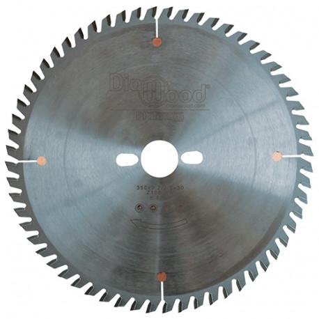 Lame de scie circulaire HM micrograin finition D. 350 x Al. 30 x ép. 3,5 mm x Z108 TP - Diamwood Platinum