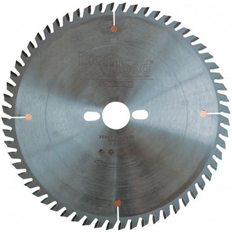 Lame de scie circulaire HM micrograin finition D. 350 x Al. 30 x ép. 3,5 mm x Z84 TP - Diamwood Platinum