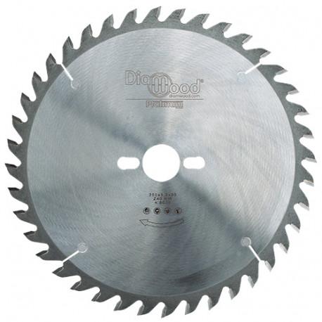 Lame de scie circulaire HM micrograin universelle D. 250 x Al. 30 x ép. 3,2 mm x Z40 Alt - Diamwood Platinum