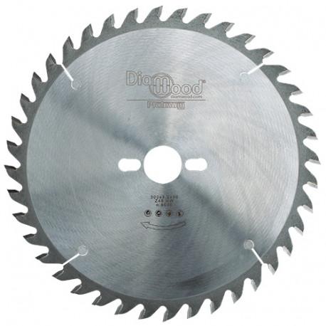 Lame de scie circulaire HM micrograin universelle D. 300 x Al. 30 x ép. 3,2 mm x Z48 Alt - Diamwood Platinum