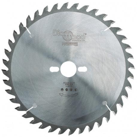 Lame de scie circulaire HM micrograin universelle D. 350 x Al. 30 x ép. 3,2 mm x Z56 Alt - Diamwood Platinum