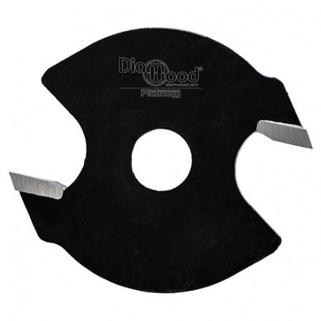 Disque à rainer D. 40 x ép. 2,5 x Al. 6,35 mm x Z2 - Diamwood Platinum