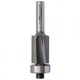 Mèche d'affleureuse biaise HM micrograin + roulement D. 19,1 x Lt. 72 x Lu. 25,4 x Q 6 mm x Z2 - fixtout Platinum